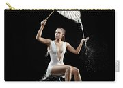 Woman With Milk Dress Carry-all Pouch