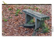 Wooden Autumn Bench Carry-all Pouch by Scott Lyons