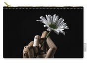Wooden Hand Holding Flower Carry-all Pouch