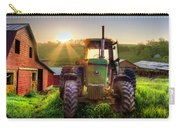Working John Deere In The Morning Sunshine Carry-all Pouch
