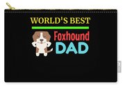 Worlds Best Foxhound Dad Carry-all Pouch