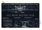 Wright Bros Flyer Aeroplane Blueprint  1903 Carry-all Pouch
