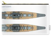 Yamato Class Battleships Top View Carry-all Pouch