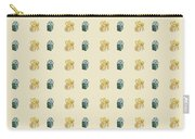 Yellow And Green Present Pattern Carry-all Pouch