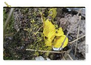 Yellow Enveloping White Carry-all Pouch