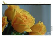 Yellow Roses Carry-all Pouch by Ann E Robson