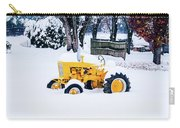 Yellow Tractor In The Snow Carry-all Pouch