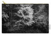 Yellow Tree In The Curve In Black And White Carry-all Pouch