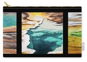 Yellowstone Hot Springs Triptych Carry-all Pouch