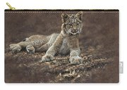 Young Bobcat By Alan M Hunt Carry-all Pouch by Alan M Hunt