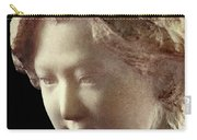 Young Girl-part-arttopan Carving-realistic Stone Sculptures-marble Carry-all Pouch