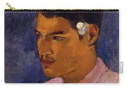 Young Man With A Flower Behind His Ear 1891 Carry-all Pouch