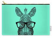 Zebra In Glasses Carry-all Pouch