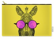 Zebra In Pink Glasses Carry-all Pouch