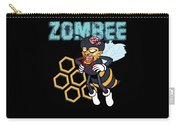 Zombee Zombie Bee Halloween For Beekeeper Apiarist Dark Light Carry-all Pouch