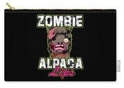 Zombie Alpaca Lips Halloween Pun Llama Alpacalypse Dark Carry-all Pouch