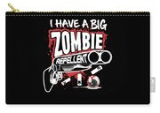 Zombie Repellent Halloween Funny Gun Art Dark Carry-all Pouch