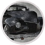 39 Custom Coupe Round Beach Towel