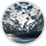 A Glorious Cloudscape Round Beach Towel