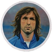 Andrea Pirlo Round Beach Towel by Paul Meijering