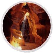 Antelope Canyon Ray Of Hope Round Beach Towel