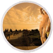 Apollo Sacred Street Round Beach Towel
