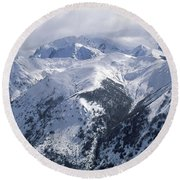 Argentina. Andes Mountains Round Beach Towel by Anonymous