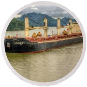 Avocet In The Panama Canal Round Beach Towel