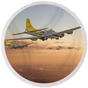 B17 - 486th Bg - Homeward Round Beach Towel