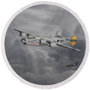 B24 Liberator  446th Bomb Group Round Beach Towel