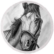 Barbaro Round Beach Towel by Patrice Torrillo