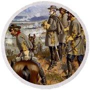 Battle Of Fredericksburg Round Beach Towel by American School