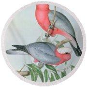 Birds Of Asia Round Beach Towel