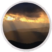 Blue Ridge Mountains Round Beach Towel