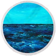 Body Of Water Round Beach Towel