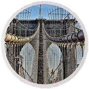 Brooklyn Bridge 3 Round Beach Towel