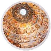 Brunelleschi Cupola Of Florence Duomo. Round Beach Towel