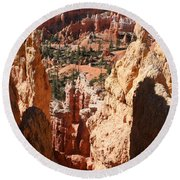 Bryce Canyon Overlook Round Beach Towel