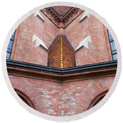 Buda Reformed Church Architectural Details Round Beach Towel