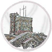 Cabot Tower Round Beach Towel