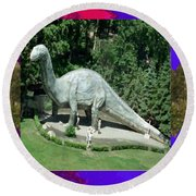 Canadian Dinosour Museaum    Canada Is Rich In Fossils Especially The Provinces Of Alberta And Bri Round Beach Towel