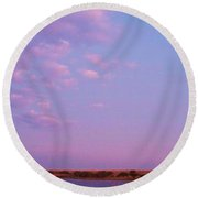 Cape May Point Lake And Clouds Round Beach Towel