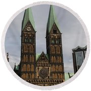 Cathedral Bremen - Germany Round Beach Towel