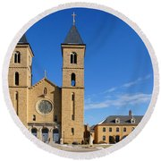 Cathedral Of The Plains Round Beach Towel