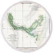 Coast Survey Chart Or Map Of The Savannah River Ans Savannah Georgia Round Beach Towel