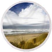 Coastal Breeze Round Beach Towel