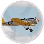Come Fly With Me Round Beach Towel by Pat Speirs
