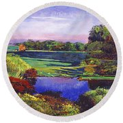 Country View Estate Round Beach Towel