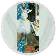 Dancer In Her Dressing Room Round Beach Towel
