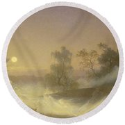 Dancing Fairies Round Beach Towel by August Malmstrom